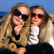 Stock Photo: Teen girlfriends in sunglases