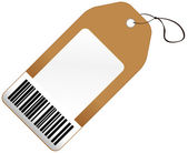 Price tag with barcode — Stock Vector