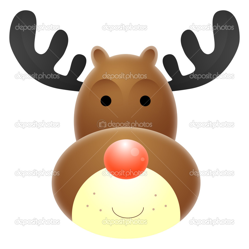 Reindeer face clipart new calendar template site for Rudolph the red nosed reindeer template