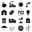 Stock Vector: Ecology and environment icons set.