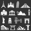 World sights icons — Stock Vector