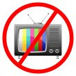 Not allow to watch the TV sign — Stock Vector