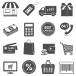 Shopping icons set. — Stock Vector #37355671