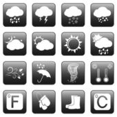 Weather Web Buttons — Vettoriale Stock