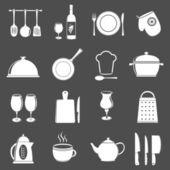 Set di icone utensile cucina — Vettoriale Stock