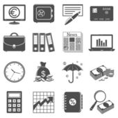 Finance and business icons — Stock Vector