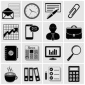 ビジネス - 金融、オフィスのアイコン — ストックベクタ