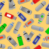 Flash drives seamless pattern — Stockvector
