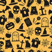 Seamless Halloween Pattern — Stock Vector