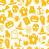 Halloween seamless pattern background — Stock Vector