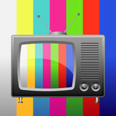 Television with test image closeup — Stock Vector