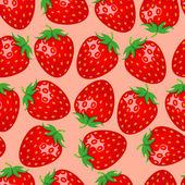 Fondo transparente dulces fresas — Vector de stock