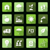 Ecology vector flat icons set — Stock Vector