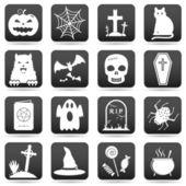 Halloween web buttons — Stock Vector