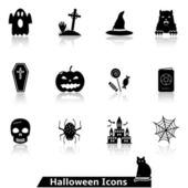 Halloween icons for website — Stock Vector