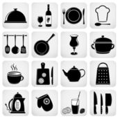Cooking and kitchen icons — Stockvektor