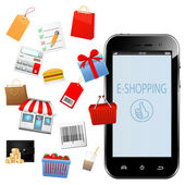 Business and E-Commerce Concept — 图库矢量图片