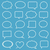 Collection of comic style speech bubbles — Stock Vector