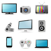 Computers & electronics icons — Stock Vector