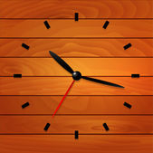 Wooden clock — Stock Vector