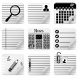 Office documents icons — Stock Vector