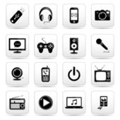 Technology web icons. — Wektor stockowy