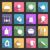 Icônes d'ustensile de cuisine — Vecteur