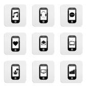 Smart telefon ikony — Stock vektor