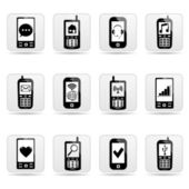 Smart-phone-symbole — Stockvektor
