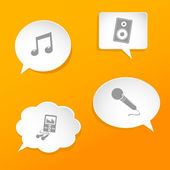 Speech bubbles with music signs. — Stock Vector