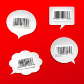 Speech bubbles with bar codes — Stock Vector