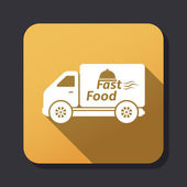 Fast food delivery icon — Stock Vector