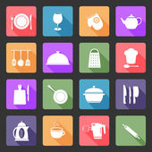 Kitchen utensil flat icons — Vector de stock