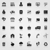 Webbplats vektor ikoner set — Stockvektor