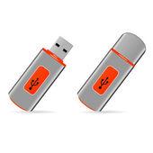 Set of USB pen drive memory — Stock vektor