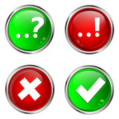 Question and answer web buttons — Stock Vector
