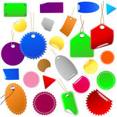 Set of colorful price tags and stickers. — Stock Vector