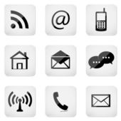 Web buttons, contact icons — Stock Vector