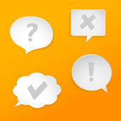 Question and answer marks on speech bubbles — Stock Vector