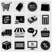 Shopping Icons - Vector — Stock Vector