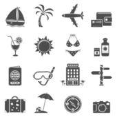 Travel icons set — Stok Vektör