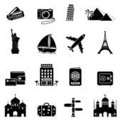 Icônes de voyage et de points de repère — Vecteur