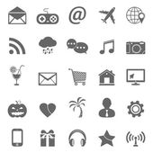 Web site vector icons set — Stock Vector