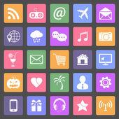 Set of social media icons — Stock Vector