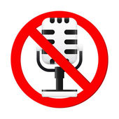 No Microphone Sign — Vector de stock