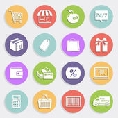 Flat icons set - sales and retail — Stock Vector
