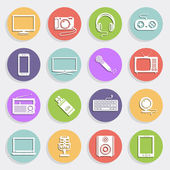 Technology and multimedia icons — Stock Vector