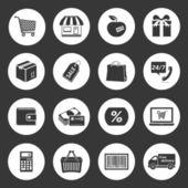 Set di icone dello shopping. — Vettoriale Stock