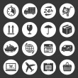 Shipping and delivery icons — Stock Vector #49916663