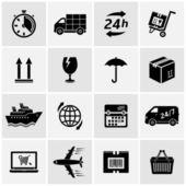 Logistyczne i dostawa ikony — Wektor stockowy